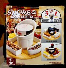Roschco Indoor Outdoor Smores Maker 3 In 1 Dessert Station
