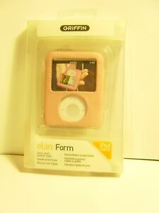 Pink Leather Hard Shell Case for iPod nano 3rd Gen 3g