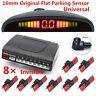 Car LED Parking Hidden Front Rear 8 Sensors For All Car Reverse Monitor