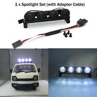 For 1:12, 1:10 WPL D12 Climbing Model Car Spotlight LED Roof Dome Light Set