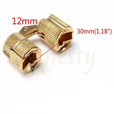 10mm Brass Barrel Invisible Hinge for Cabinet Door Caravan Worktops 180º
