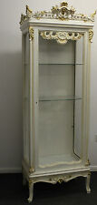 ANTIQUE FRENCH STYLE FURNITURE - WHITE CABINET - MAHOGANY - 57