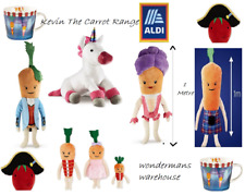Kevin the Carrot/Katie/Kids/Unicorn - Large/Small - Soft Plush Toys Aldi - New