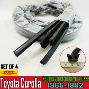 FOR Toyota Corolla KE10 KE20 KE30 KE70 Sedan Window DOOR GLASS Channel Felt Run