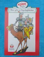 MOSAIK DIGEDAGS großer WERBEAUFSTELLER DIGEDAGBÜCHER 79x51cm Werbeschild Werbung