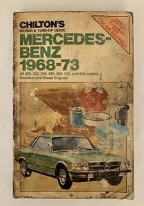 Chilton Mercedes-Benz 1968-1973 Repair and Tune Up Guide