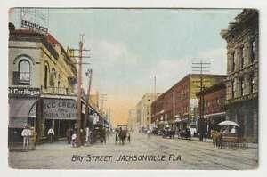 D1766 : 1900's Jacksonville, Fla Principal St Carte Postale