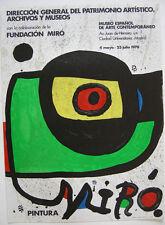 Joan Miro Plakat Orig Farblithografie Pintura Fundacion Miro 1978 Madrid