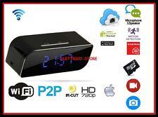 Orologio sveglia Camera SPY DVR P2P Mini IP Camera H.264 HD 720P Wifi REGISTRA