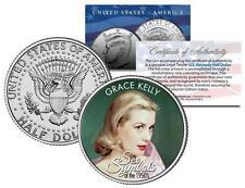 GRACE KELLY * 1950s Sex Symbol * Colorized JFK Kennedy Half Dollar U.S. Coin
