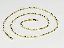 "10kt SOLID Gold Diamond Cut ROPE Pendant Chain/Necklace 20"" 2.5mm 6 grams 018R"