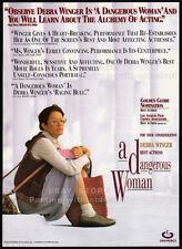 A DANGEROUS WOMAN__Original 1994 Trade AD promo_poster__DEBRA WINGER__Chloe Webb
