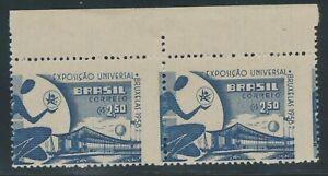 BRASILIEN 1958, Brüsseler Weltausstellung 2.50 Cr. postfr. Kab.-Paar, ABARTEN