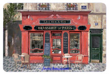 6 French Art BRASSERIE DE PARIS LA CAVE A VIN Restaurant Wine Plastic Placemats