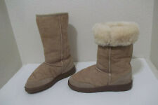 ACORN BROWN FAUX FUR LINED WINTER BOOTS SZ MENS 8 WOMENS 9