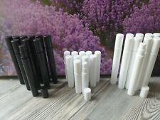 Mini Zerstäuber 10x Sprühflaschen Probeflaschen Parfum 3 ml 5 ml schwarz weiß