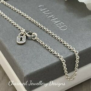 solid silver ankle chain anklet sterling silver MINI LOCK charm 925 gifts