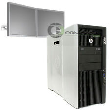 HP Z820 2 Monitor Support PC E5-2640 2.5 GHz 24GB RAM 2x250GB HDD NVS 295