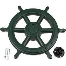 SWING SET STUFF SHIPS WHEEL GREEN wooden pirate steering accessories fort 0230