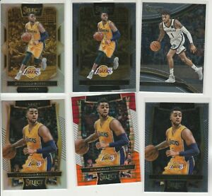 D'ANGELO RUSSELL SELECT RAINBOW LOT (6) 2016-17 COURTSIDE SILVER PRIZM + MORE!