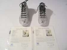 Stephen Curry Warriors Signed Autographed Pair Storm Basketball Shoes JSA COA