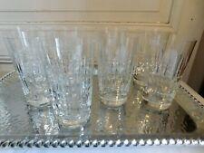 Crystal Sevres Set Of Eight Glasses Orange Soda Crystal Carved Signed