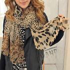 Fashion Women Long Soft Wrap Lady Shawl Silk Leopard Chiffon Scarf Girls Shawl