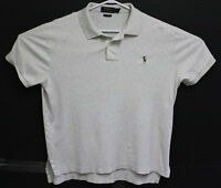Polo Ralph Lauren Mens Grey Pima Soft Touch Short Sleeve Shirt Size Large EUC