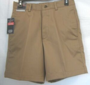 Roundtree & Yorke Size 30  Brown Classic Fit Flat Front Shorts New Mens