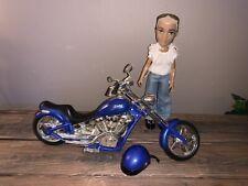 "Rare 2003 Mga Bratz 14"" Blue Chopper Motorcycle Lights Sound"