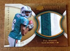 2009 Exquisite PAT WHITE Signature Nameplates AUTO Patch Rookie 1/10 EBAY 1/1