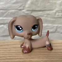 Littlest Pet Shop Authentic Tan Brown Dachshund Puppy DOG LPS FIGURE