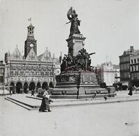 Francia Postal- Hôtel Ayuntamiento Plaza Monumento c1920 Foto - Placa