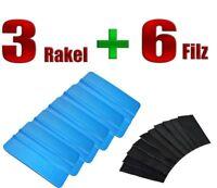 RAKEL BLAU 3 STÜCK + FILZ 6 STÜCK - Folierung - Carwrapping