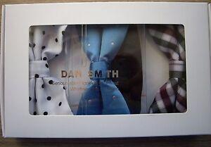 DAN SMITH FASHION URBAN BOW TIE SET 3 VARIOUS DESIGNS IN PRESENTATION BOX