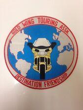 "GOLD WING TOURING ASSOCIATION ASSN 9"" DIAMETER LARGE PATCH COAT JACKET"