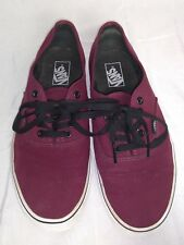 Vans Authentic Red Maroon Sneakers Mens Size 10