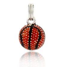 Silver .925 Enamel Orange Basket Ball Charm Pendant <--