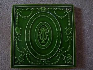 Antique Classical pattern tile with musical motifs   21/72A