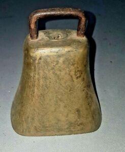 Antique Brass Cow Bell.
