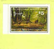 1981 NWTF WILD TURKEY RESEARCH STAMP CALL FREE SHIPPING