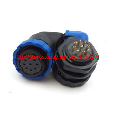 SD20 9Pin Waterproof Connector, Right Angle 5A 250V High Voltage Auto Connector