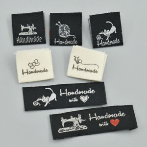 50pcs Washable Cloth Woven Labels Tags DIY Clothing Sew Gift Patch Accessories