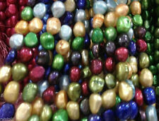 "8-9MM Blue irregular freshwater pearl loose beads 13 "" kji"