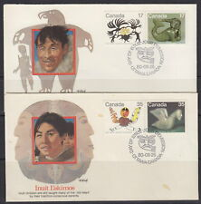CANADA #866-869 INUIT SPIRITS SET OF TWO ON FLEETWOOD CACHET FIRST DAY COVERS