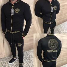 Men European Designer Tracksuit Vеrsасе Jacket Pants Long Sleeve S M L XL XXL 3X