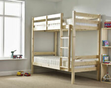 Pine Beige Bunk Beds Bases for Children