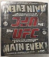 2010 Topps UFC MAIN EVENT Factory Sealed Retail Box 1 Auto/Memorabilia Per Box