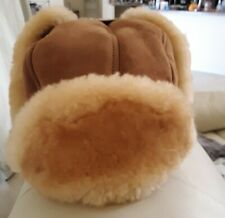 New Shearling Chapka Trapper Hat Size Small