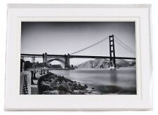 Tanya Harrison San Francisco Bridge Black & White Matted Photograph